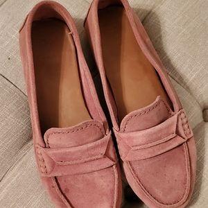 Frye Size 8 Blush Pink Suede Loafer -rare color